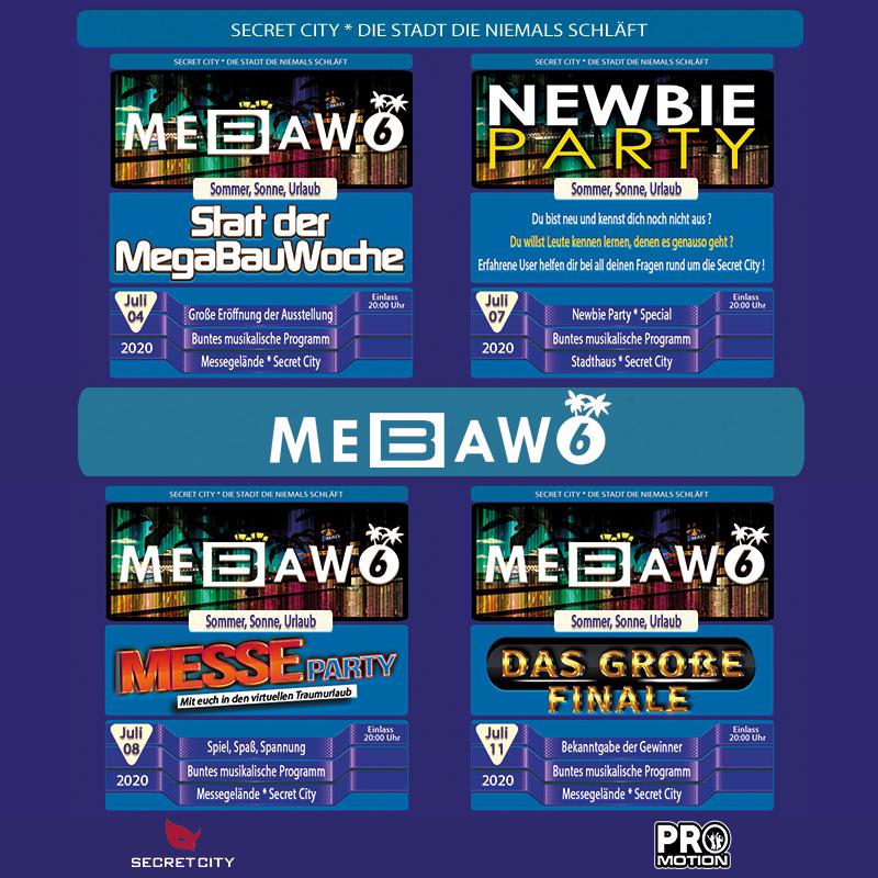 "MeBaWo 6 ""Sommer, Sonne, Urlaub"" - Das Rahmenprogramm"