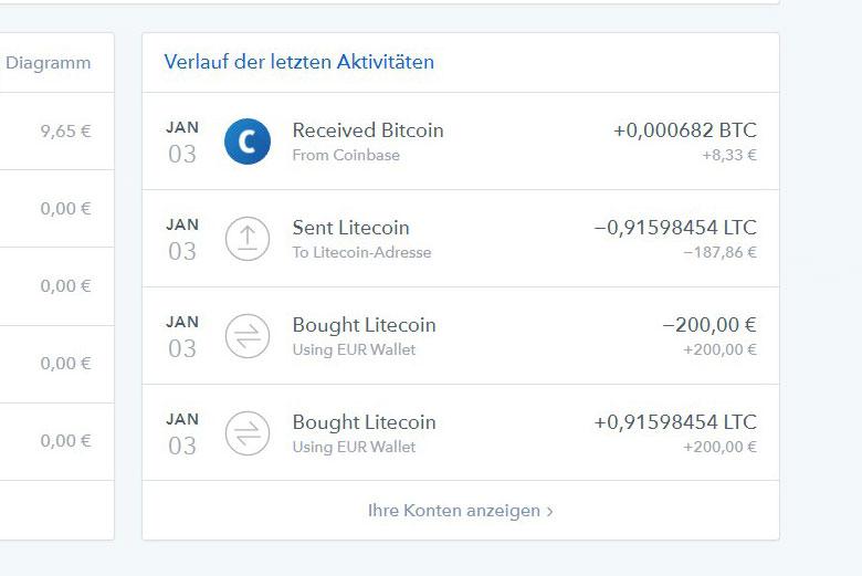 bitcoin kaufen mit coinbase